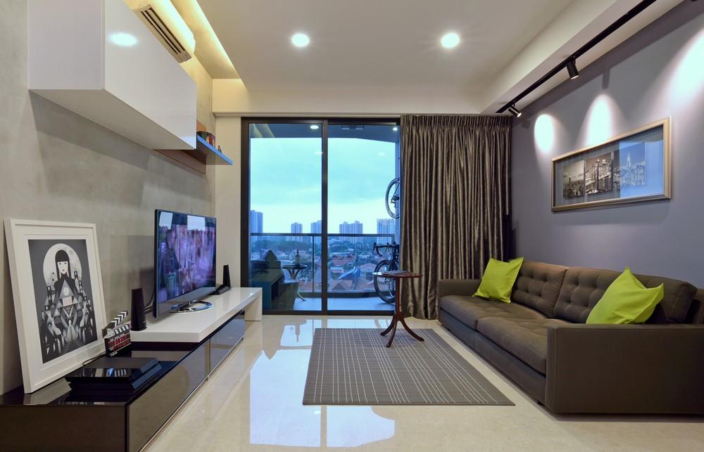 Appartement minimaliste singapour avec des vues de ville for Appartement minimaliste